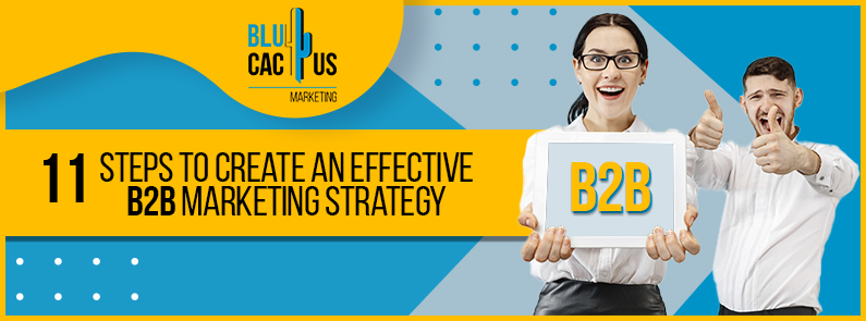 BluCactus - 11 steps to create an effective B2B Marketing strategy - title