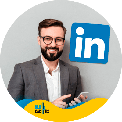 BluCactus - how to create a linkedin ads strategy - person working