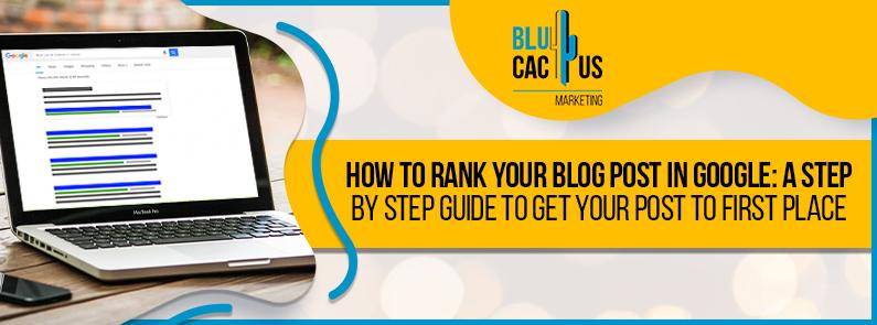 BluCactus - blog post on Google - title