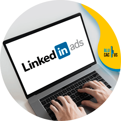 BluCactus - how to create a linkedin ads strategy - computer with important information