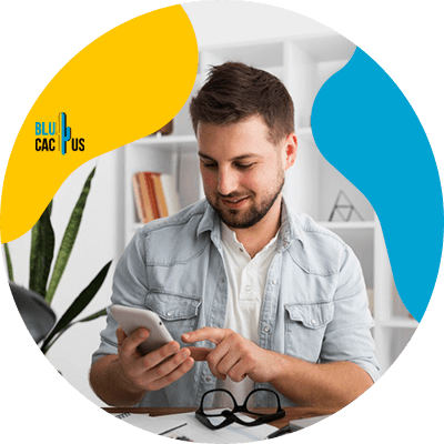 Blucactus - Create content for users first - A man clicking on his phone