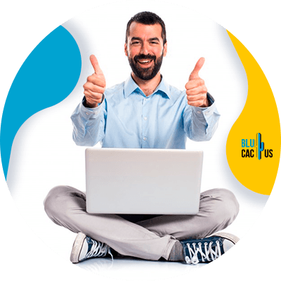 Blucactus - Create epic content - A man with his thumbs up