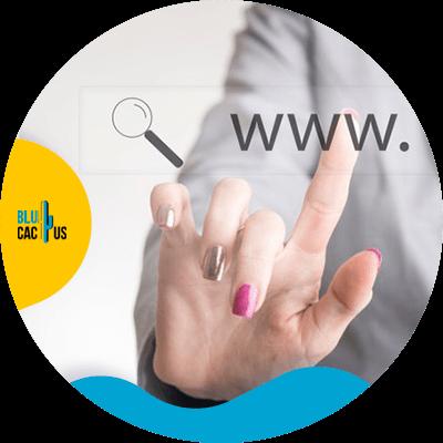 Blucactus - Create short URLs - A hand clicking something