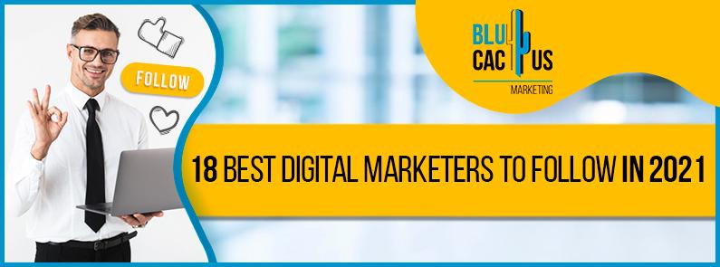 Blucactus - 18 best digital marketers to follow in 2021 banner
